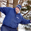 WARREN DILLAWAY / Star Beacon<br /> BOB DECKER of Painesville prepares a shot during the Ashtabula Ice Bowl disc golf tournament on Saturday at Lake Shore Park in Ashtabula Township.