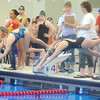 PAIGE WATSON of the Ashtabula YMCA Stingrays (right) swims the 15 and over 200 meter freestyle on Saturday during the YMCA Divisional Swim Meet at Spire Institute in Harpersfield Township.