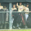 WARREN DILLAWAY / Star Beacon<br /> THE DUGOUT was a good place to stay dry for the New Albany Major League All Stars on Saturday during Little League state tournament action at Cederquist Park in Ashtabula.