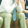 WARREN DILLAWAY / Star Beacon<br /> RYAN HARCO, St. John boys basketball coach, watches the action on Friday night at Conneaut.