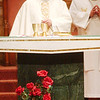 WARREN DILLAWAY / Star Beacon<br /> FATHER RAYMOND THOMAS (left) and Father Ernesto Rodriquez celebrate a Mass For Life Saturday morning at St. Joseph Church in Ashtabula. The service coincides with the Jan. 23, 1973, U.S. Supreme Court decision that legalized abortion in the United States. The service affirms the church's belief against abortion.
