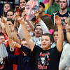 WARREN DILLAWAY / Star Beacon<br /> EDGEWOOD FANS cheer their Warriors on Friday night during a home game with Conneaut.