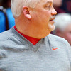 WARREN DILLAWAY / Star Beacon<br /> JOHN BOWLER, Edgewood boys basketball coach, watches the action on Friday night at Edgewood.