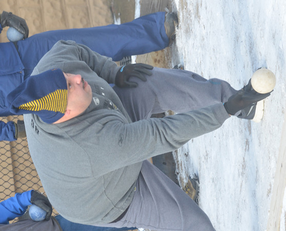 WARREN DILLAWAY / Star Beacon<br /> TERRY GUERRIERO of Ashtabula participates in the First Annual Sons of Italy Outdoor Bocce Tournament on Saturday in Ashtabula.