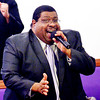WARREN DILLAWAY / Star Beacon<br /> ROBERT CROCKETT sings during a Martin Luther KIng Jr. memorial service on Monday afernoon at Hiawatha Church of God in Christ in Ashtabula.