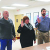 DEVASTASHA BEAVER / Star Beacon<br /> GENEVA-ON-THE-LAKE VILLAGE Council swore-in two returning members, Steve Cervas and Susan Cook-Sharpe, and one new member, Ed Salata at Monday's meeting. Left to right are Cervas, Cook-Sharpe, and Salata.