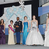 WARREN DILLAWAY / Star Beacon<br /> ELYSE PITKIN, an 18 year old senior at Geneva High School, (far right) waits for the announcement of the winner of  the Senior Miss Winterfest Pageant on Saturday night at the Geneva Community Center. Pitkin was crowned the winner.