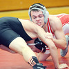 WARREN DILLAWAY / Star Beacon<br /> JACOB CORDONA of Edgewood (facing) goes for the pin on Thursday night during a 152 pound match with Mason Swiney of Jefferson on Thursday night at Edgewood. Josh Ebbert officiated the match.