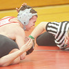 WARREN DILLAWAY / Star Beacon<br /> JACOB CORDONA of Edgewod goes for the pin on Thursday night during a 152 pound match with Mason Swiney of Jefferson on Thursday night at Edgewood. Josh Ebbert officiated the match.