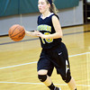 WARREN DILLAWAY / Star Beacon<br /> BRIANNA PRUGEL of Riverside brings the ball up court on saturday at Lakeside.