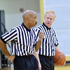 WARREN DILLAWAY / Star Beacon<br /> CHUCK REILLY (left) and John Teske officiate the Riverside at Lakeside girls basketball game on Saturday.