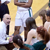 WARREN DILLAWAY / Star Beacon<br /> DAVE MALONE, Lakeside girls basketball coach, instructs his team during a timeout Saturday.