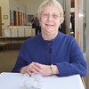 WARREN DILLAWAY / Star Beacon<br /> BETH KOSKI takes a break from her retirement reception at the Ashtabula Arts Center on Saturday afternoon. She was director of the arts center for 28 years.