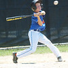 WARREN DILLAWAY / Star Beacon<br /> ANDY MEHALIC of the Ashtabula Major League All Stars takes a mighty swing on Saturday during District 1 Championship action against Jefferson at Cederquist Park.