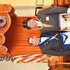 WARREN DILLAWAY/ Star Beacon<br /> WORSHIP MASTER of Rising Sun Lodge #22 Free & Accepted Masons Joseph F. Styblo (left) poses with Most Worshipful Grandmaster of Masons of Ohio following a 200th anniversary celebration for the Ashtabula Lodge on Saturday.