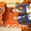 WARREN DILLAWAY/ Star Beacon<br /> WORSHIP MASTER of Rising Sun Lodge #22 Free & Accepted Masons Joseph F. Styblo (left) poses with Most Worshipful Grandmaster of Masons of Ohio following a 200th anniversary celebration for the Ashtabula Lodge on Saturday.
