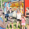 WARREN DILLAWAY / Star Beacon<br /> REBECCA OSTROFF of the Kelly Miller Circus talks to circus fans Thursday morning after the Big Top was raised at Lakeview Park.