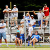WARRENDILLAWAY / Star Beacon<br /> BASEBALL FANS watched from any angle they could on Saturday as the Major League state tournament began after an hour and a half rain delay at Cederquist Park in Ashtabula.