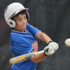 WARREN DILLAWAY / Star Beacon<br /> OZZIE CAMPBELL of the Ashtabula Major League All Stars swings at a pitch on Saturday during the first day of Little League state tournament action at Cederquist Park in Ashtabula.
