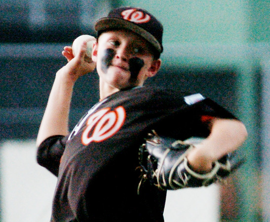 WARREN DILLAWAY / Star Beacon<br /> CONNOR MULLINS of Wheelersburg pitches on Tuesday afternoon during the Little League State Tournament at Cederquist Park in Ashtabula.