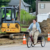 WARREN DILLAWAY / Star Beacon<br /> AREA WIDE Protection crews work along Buffalo Street in Conneaut on Tuesday afternoon.