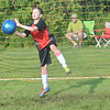 WARREN DILLAWAY / Star Beacon<br /> DANIEL JACKSON, a sixth grader in the Geneva Area City Schools, works on his goalie skiils during the Mike Mikulin Memorial Soccer Camp in Geneva on Tuesday evening.