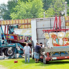 WARREN DILLAWAY / Star Beacon<br /> SOME OF the amusement rides for the Ashtabula County Fair have arrived at the fairgrounds in Jefferson.