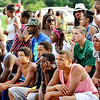 WARREN DILLAWAY / Star Beacon<br /> BASKETBALL FANS watch the Westside Shootout on Saturday at the West Avenue courts in Ashtabula.