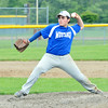 WARREN DILLAWAY / Star Beacon<br /> LOGAN SINES of the Grand Valley Junior League Mustangs pitchs on Tuesday during a game at Jefferson's Havens Complex.