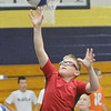WARREN DILLAWAY / Star Beacon<br /> CODY WICK shoots a layup during the Conneaut Bench Club Youth Skills Camp Thursday afternoon at Conneaut High School.