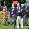 WARREN DILLAWAY / Star Beacon<br /> ROB RICH of the Elks Club speaks during a Flag Day Ceremony at Greenlawn Memory Gardens in North Kingsville.
