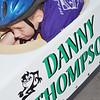 WARREN DILLAWAY / Star Beacon<br /> DANNY THOMPSON prepares to compete in the Soap Box Derby Saturday in Conneaut.