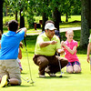 WARREN DILLAWAY / Star Beacon<br /> GREG DELPRINCE gives a lecture on putting at the Hickory Grove Jr. Golf Clinic Tuesday morning in Jefferson Township.