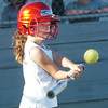 WARREN DILLAWAY / Star Beacon<br /> MIKIA KELSEY of Cruise One takes a swing on Tuesday during a Mini Minor game at the Jefferson Area Girls Softball complex.