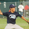 WARREN DILLAWAY / Star Beacon<br /> ANTONIO HARRIS of the Saybrook Major League Rays pitches on Friday during a game with the Indians.