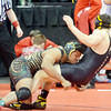 WARREN DILLAWAY / Star Beacon<br /> KYLE CONEL of Lakeside won his Friday morning match at the Ohio High School Individual State Wrestling Tournament in Columbus with a decision over Kadin Liewellyn of Perrysburg.