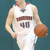 WARREN DILLAWAY / Star Beacon<br /> ANDREW KONCZAL of Edgewood dribbles up court Monday evening during the Star Beacon-Ed Batanian Senior Classic at Lakeside.