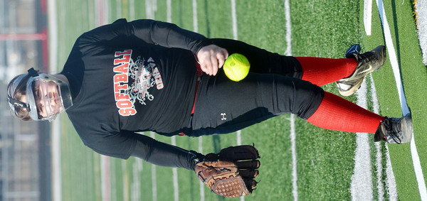 WARREN DILLAWAY / Star Beacon<br /> LAKEN ANDERSON of Geneva pitches on Friday during a scrimmage at Jefferson.