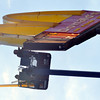 WARREN DILLAWAY / Star Beacon<br /> A WORKER from Ellen Neon Sign Inc. fixes the McDonald's sign on Route 534 in Harpersfield Township near Interstate 90.