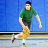 WARREN DILLAWAY / Star Beacon<br /> CHANDLER VERHAS works on a fielding drill during a Grad Valley baseball practice on Monday in Orwell.