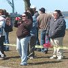 WARREN DILLAWAY / Star Beacon<br /> PARENTS AND grandparents seemed to have as much fun as the children during the Lake Shore Park Easter Egg Hunt Saturday in Ashtabula Township.