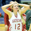 WARREN DILLAWAY / Star Beacon<br /> ALYSSA SCOTT of Geneva reacts after the Eagles lost a Division II regional semi-final on Tuesday evening at Barberton.