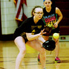 WARREN DILLAWAY / Star Beacon<br /> MEGAN STECH of Pymatuning Valley works on her pitchig during a Tuesday evening practice in Andover Township.