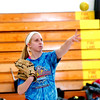 WARREN DILLAWAY / Star Beacon<br /> TAYLOR DIEMER throws a ball during a drill at Edgewood softball practice Monday afternoon in Ashtabula Township.