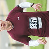 WARREN DILLAWAY / Star Beacon<br /> MIKE PALUMBO of Akron completes the Campus to Campus 5 Mile on Saturday at Lakeside High School.
