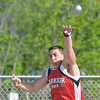 WARREN DILLAWAY / Star Beacon<br /> MATT FITCHET of Edgewood throws the shot put Friday evening during the Jefferson Night Relays.