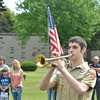 NICK ROSE plays Taps during an Armed Forces service at Greenlawn Memory Gardens in North Kingsville Saturday morning.