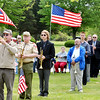 CHUCK CLARK leads a group of buglers during an Echo   Taps program at Greenlawn Memory Gardens in North Kingsville Saturday morning.