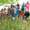 WARREN DILLAWAY / Star Beacon<br /> STUDENTS FROM the Ashtabula County Family YMCA watch their butterflies fly during a release Friday morning in Ashtabula.