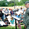 WARREN DILLAWAY / Star Beacon<br /> MASTER SGT. John Smith was the main speaker during the Ashtabula Memorial Day service on Monday morning.